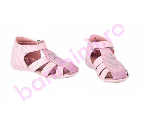 Sandale fete piele Pj Shoes Isa roz