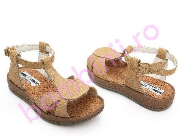 Sandale copii piele 652 bej