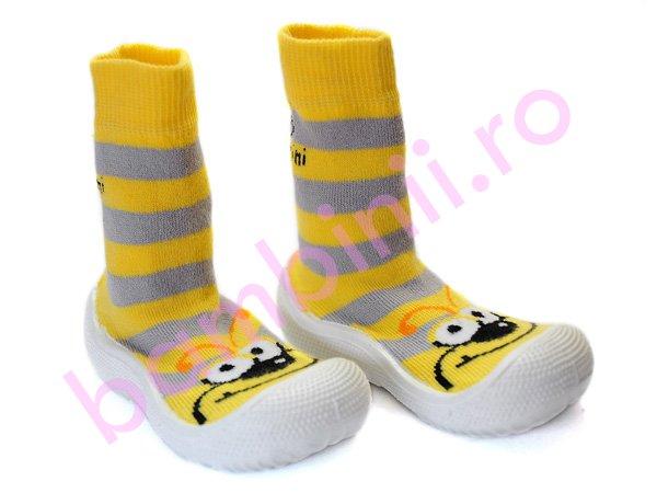 Sosete antiderapante copii galben