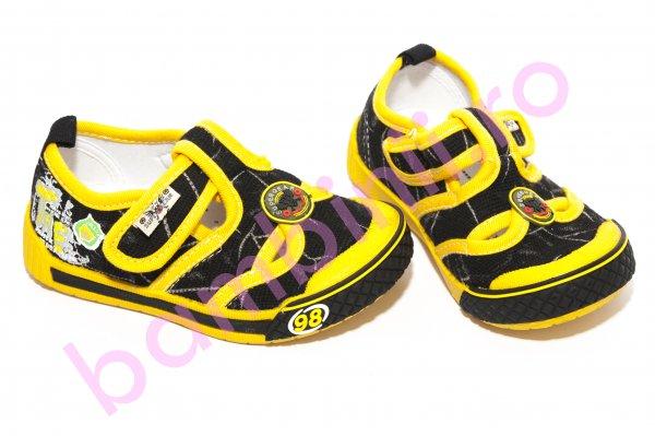 Tenisi copii 9915 negru galben 20-25