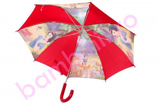 Umbrela copii alba-ca-zapada rosu