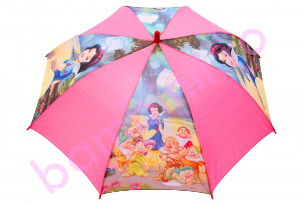 Umbrela copii alba-ca-zapada roz