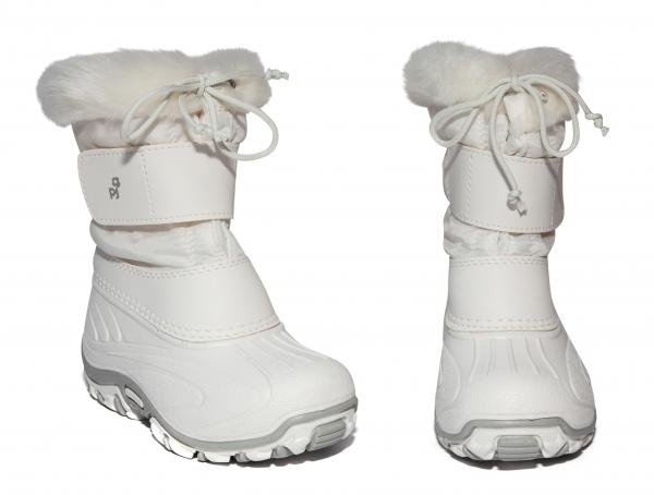 Apreschiuri fete cu blana de iarna pj shoes Fun alb 21-36