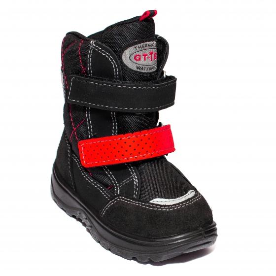 Apreskiuri copii blana GT tex 95113 negru red 26-37