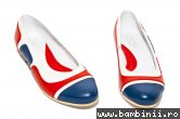 Balerini dama 026.3 corai blu alb 34-41