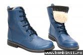 Bocancel dama cu blana 8790 albastru 35-40