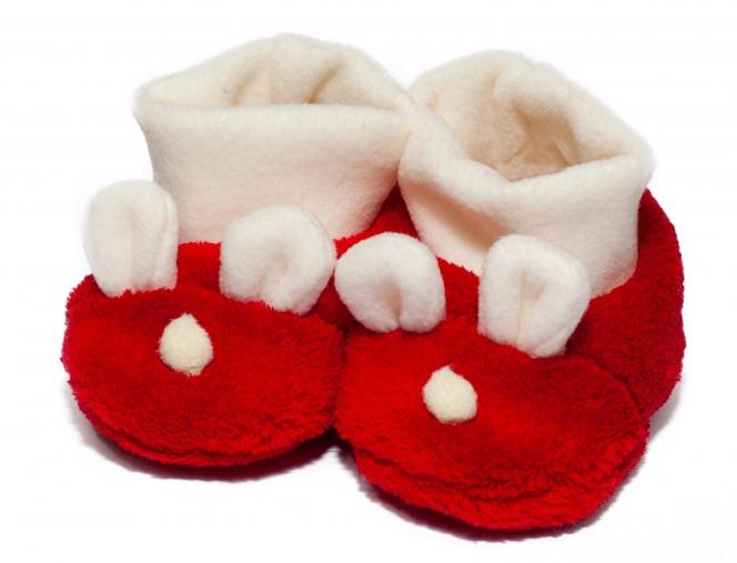 Botosei copii de iarna b22 rosu 9luni-12luni