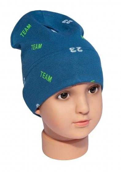 Caciula baieti Team 3207 albastru 1-4ani