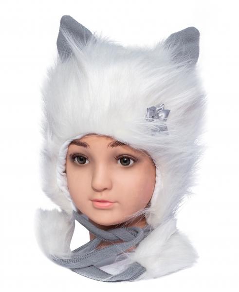 Caciula fete iarna pisicuta C168 alb 48-52cm