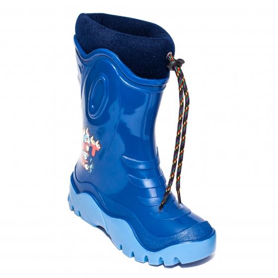 Cizme copii cauciuc cu blana iarna 4 albastru Sam 24-39