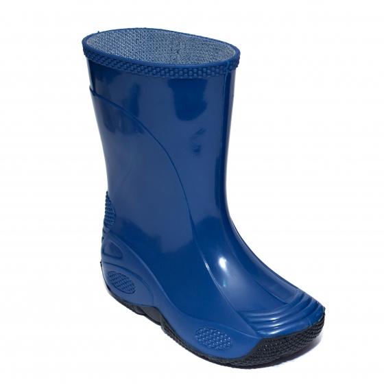 Cizme copii cauciuc de ploaie 2 albastru negru 20-35