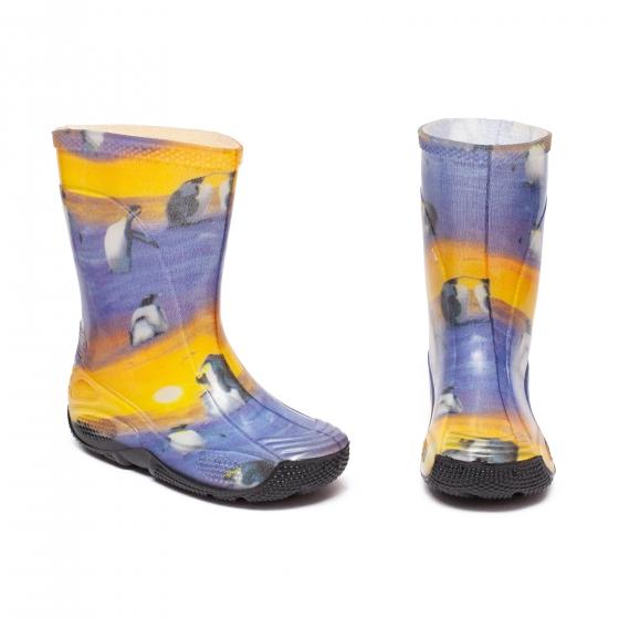 Cizme copii cauciuc de ploaie 2 pinguin albastru G 20-35