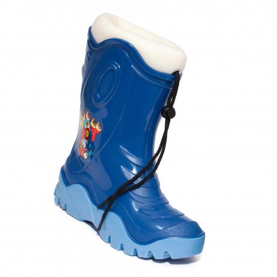 Cizme de zapada baieti cu blana iarna 4 albastru Sam bej 24-39