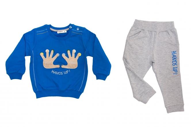 Compleuri baieti 1715 albastru gri 86-110cm