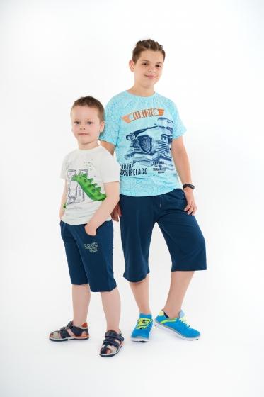 Compleuri baieti de vara 1680 albastru blu 110-164cm