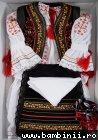 Costum traditional de botez fete celebrity 5163 negru 3-9 luni