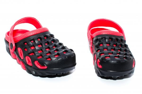 Crocsi copii de plaja 1033 negru rosu 30-35