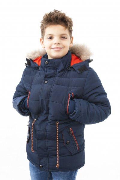 Geaca de iarna baieti 1227 kaki 116-146cm