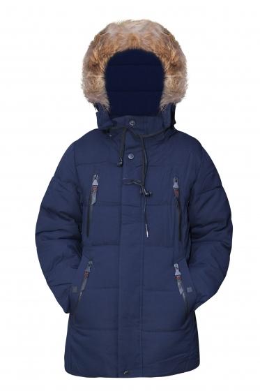 Geci baieti de iarna cu casti 2137 blu 128-170cm