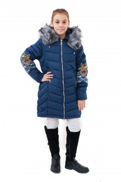 Geci fete de iarna groase buvnita 2128 blu 128-164cm