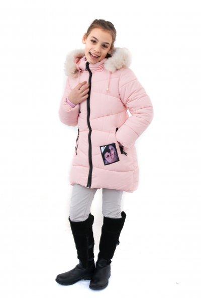 Geci fete de iarna groase buvnita 2130 roz 116-164cm