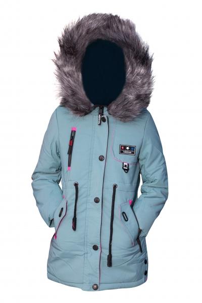 Geci fete groase de iarna 2131 gri roz 116-164cm