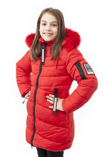 Geci fete lungi de iarna groase 2126 blumarin 128-164cm