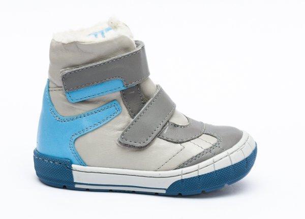Ghete blana baieti pj shoes Kiro gri albastru 20-29