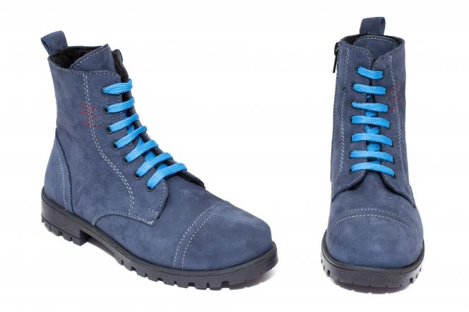 Ghete copii blana pj shoes King albastru nabuc 27-37