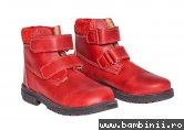 Ghete copii blana pj shoes Luca 4 rosu box 27-36