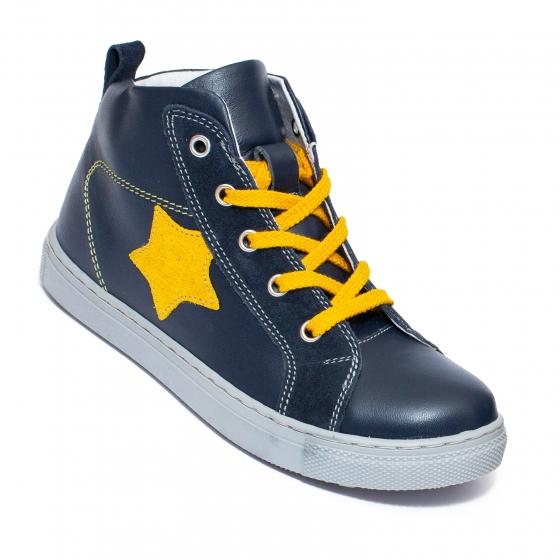 Ghete copii cu fermoar hokide 343 blu galben stea 26-37