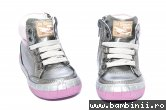Ghete copii piele pj shoes Kid roz gri metal 20-26