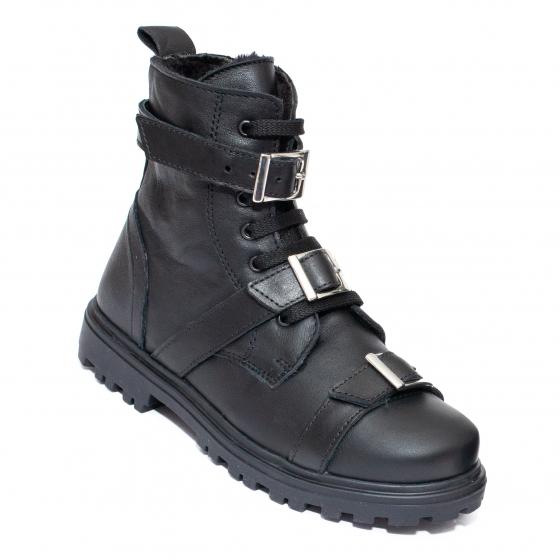 Ghete fete blana pj shoes Alice 2 negru 31-38
