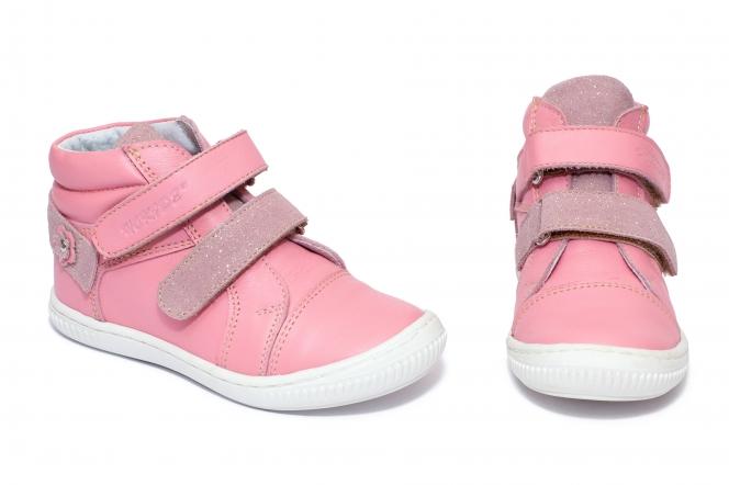 Ghete fete flexibile hokide 455 fuxia roz lux 26-30