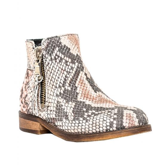 Ghete fete piele pj shoes Lena bej croco 31-37