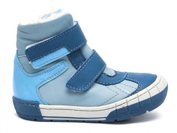 Ghetute baieti cu blana pj shoes Kiro albastru bleu 20-29