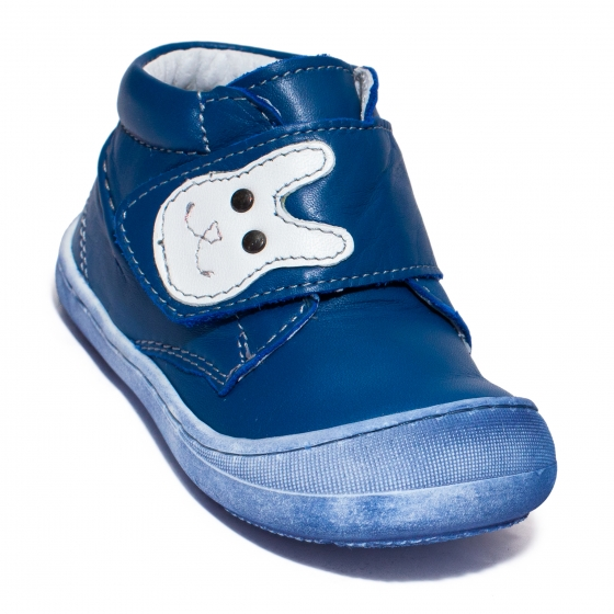 Ghetute baieti cu talpa flexibila pj shoes Teddy blu box 18-25