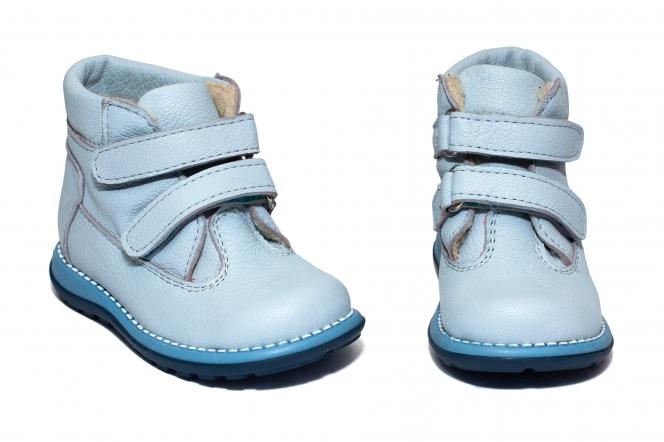 Ghetute copii cu blana 733 blue blu 19-25