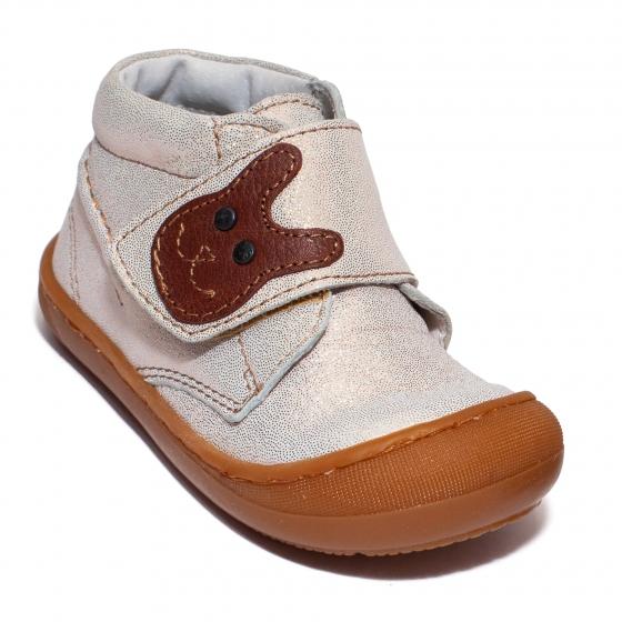 Ghetute fete cu talpa flexibila pj shoes Teddy arg 18-25