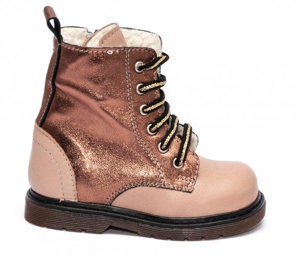 Ghetute fetite blana pj shoes King cafe bronz 20-26