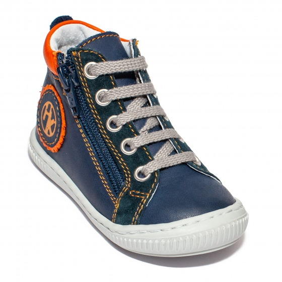 Ghetute ortopedice baieti hokide 377 blu portocaliu 18-25