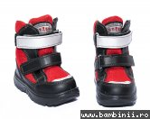 Incaltaminte copii iarna gt-tex 93312 negru rosu 20-25