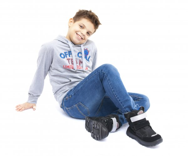 Incaltaminte copii iarna gt-tex 95312 negru albastru 26-36
