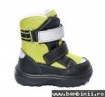 Incaltaminte iarna copii gt-tex 93312 negru verde 20-25