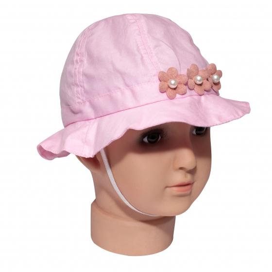 Palarie fete 3223 roz flori 1an-3ani