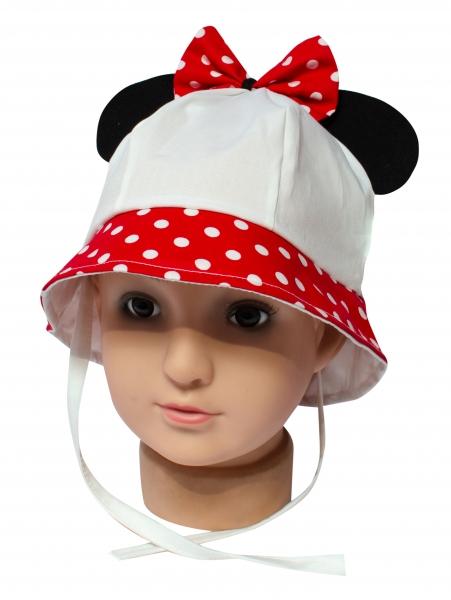 Palarie fete mic pitic Minnie pl27 alb rosu 44-48