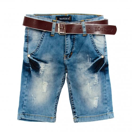 Pantaloni baieti scurti din blug 3234 blug 6ani-14ani