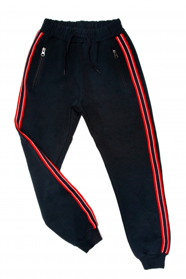 Pantaloni copii 1726 blu rosu 110-134cm