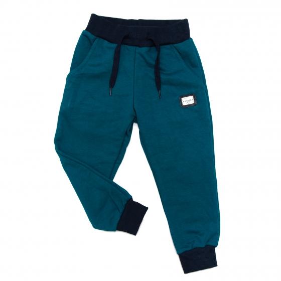 Pantaloni trening baieti 1743 blu turcoaz 80-128cm