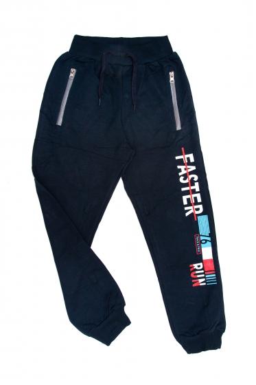Pantaloni trening copii 1723 blu rosu 128-164cm